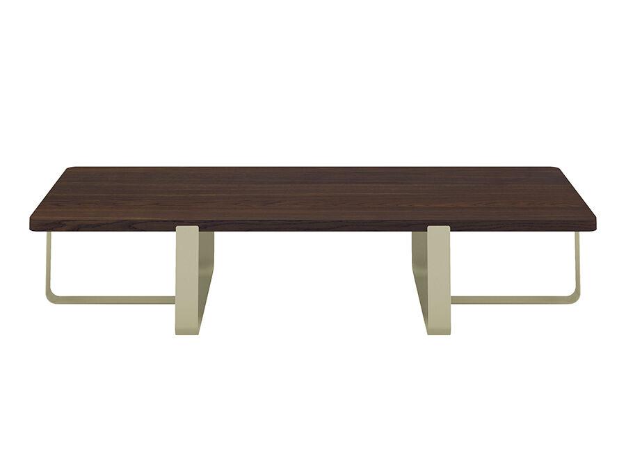 MEME DESIGN table basse INN DOUBLE (Chanvre - Chêne fumé et métal)