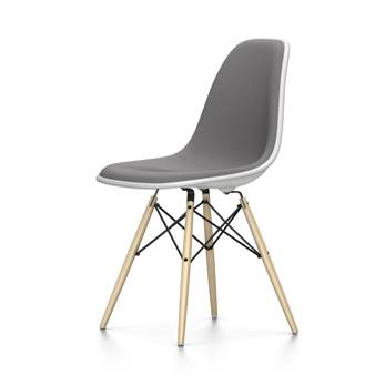 VITRA chaise rembourrage total Eames Plastic Side Chair DSW NOUVELLES DIMENSIONS (Blanc, coussin bleu glace/marron marécage - Polypropylene [...]