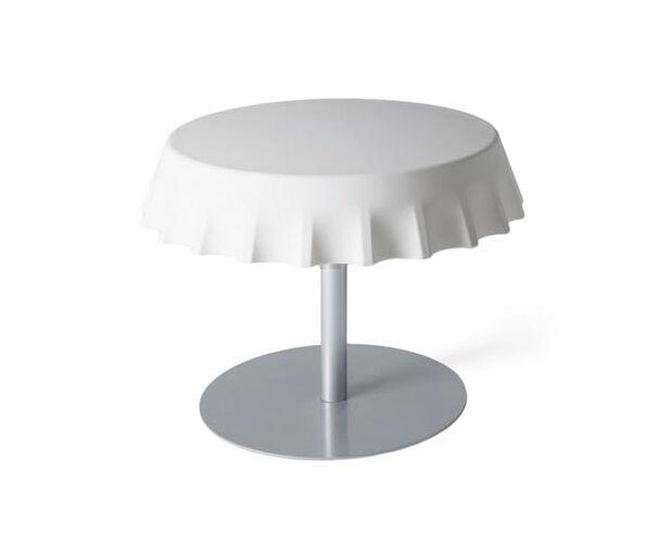 SLIDE table basse FIZZZ H 40 cm (Blanc lait - Polyéthylène et métal)