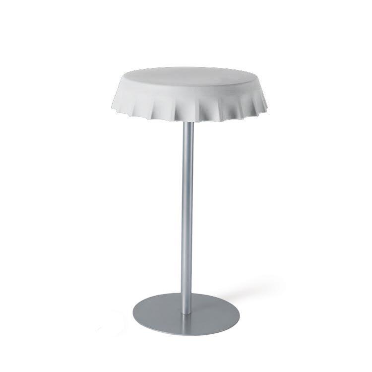 SLIDE table haute FIZZZ H 110 cm (Blanc lait - Polyéthylène et métal)