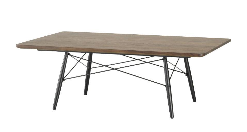 VITRA table basse rectangulaire EAMES COFFEE TABLE (Noyer américain - Bois massif huilé, frêne massif et acier)