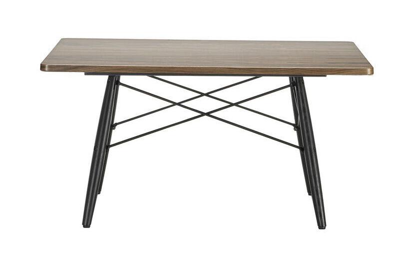 VITRA table basse carré EAMES COFFEE TABLE (Noyer américain - Bois massif huilé, frêne massif et acier)