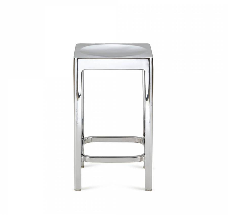 EMECO STOOL tabouret H 61 cm (Brillant - Aluminium recyclé)