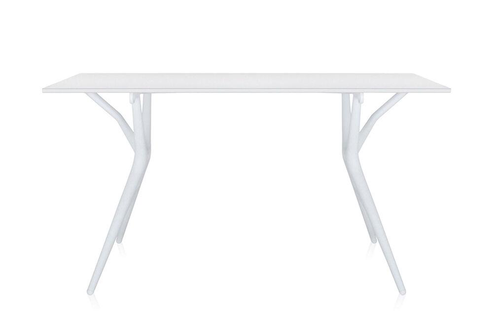 KARTELL table SPOON TABLE (Blanc - 140 x 74 - Aluminium nid d'abeilles et mélamine)