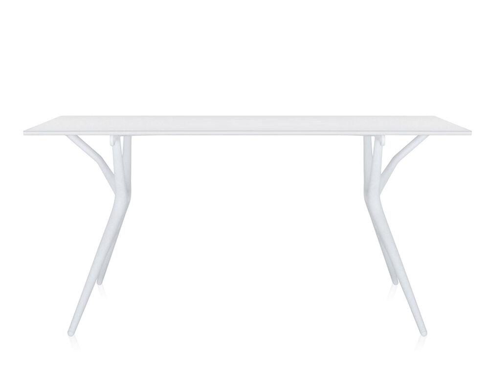 KARTELL table SPOON TABLE (Blanc - 160 x 80 - Aluminium nid d'abeilles et mélamine)