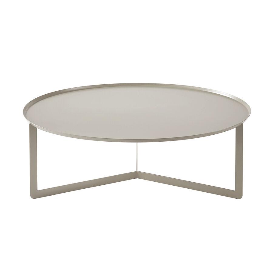 MEME DESIGN table basse ROUND 5 (Chanvre - Métal)