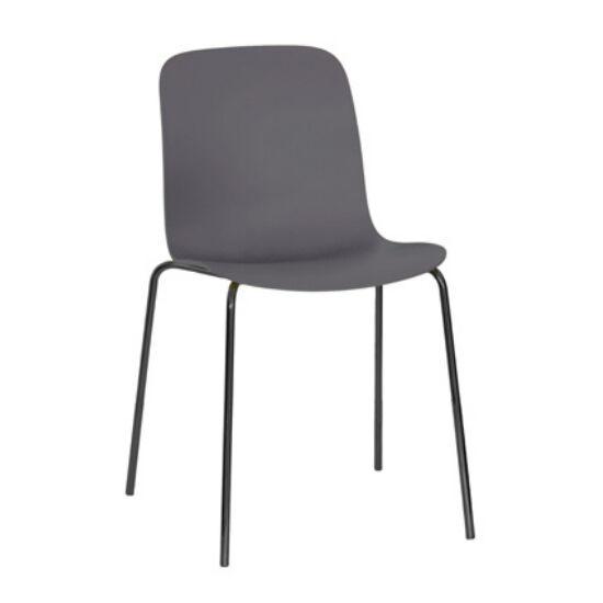 MAGIS set de 4 chaises SUBSTANCE STEEL (Gris beige - acier verni noir et polypropylène)