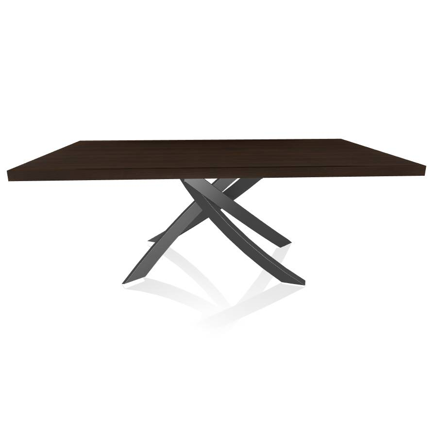 BONTEMPI CASA table avec structure anthracite ARTISTICO 20.01 200x106 cm (Chêne Spessart - Plateau en bois plaqué et structure en acier laqué [...]