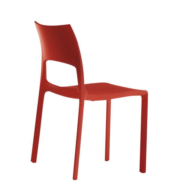 BONALDO set de 2 chaises IDOLE (Rouge brique - Polypropylène opaque)
