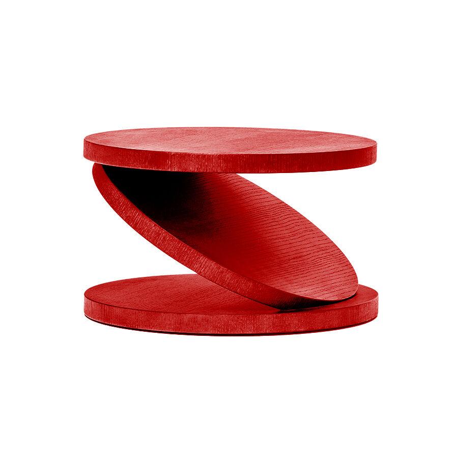 BALERI ITALIA table basse MATCH POINT (30° chêne verni rouge - bois multi-couches palqué)