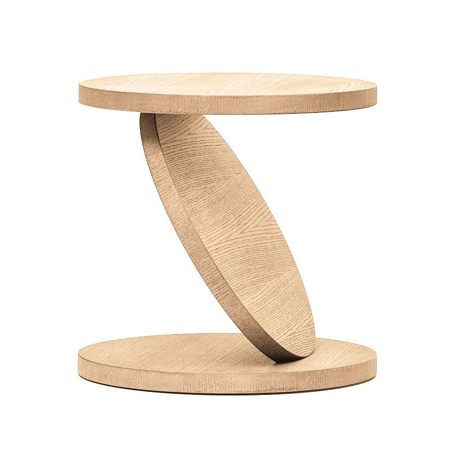 BALERI ITALIA table basse MATCH POINT (60° chêne blanchi - bois multi-couches palqué)