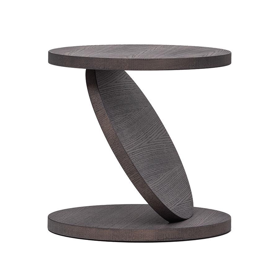 BALERI ITALIA table basse MATCH POINT (60° chêne thermo-traité - bois multi-couches palqué)