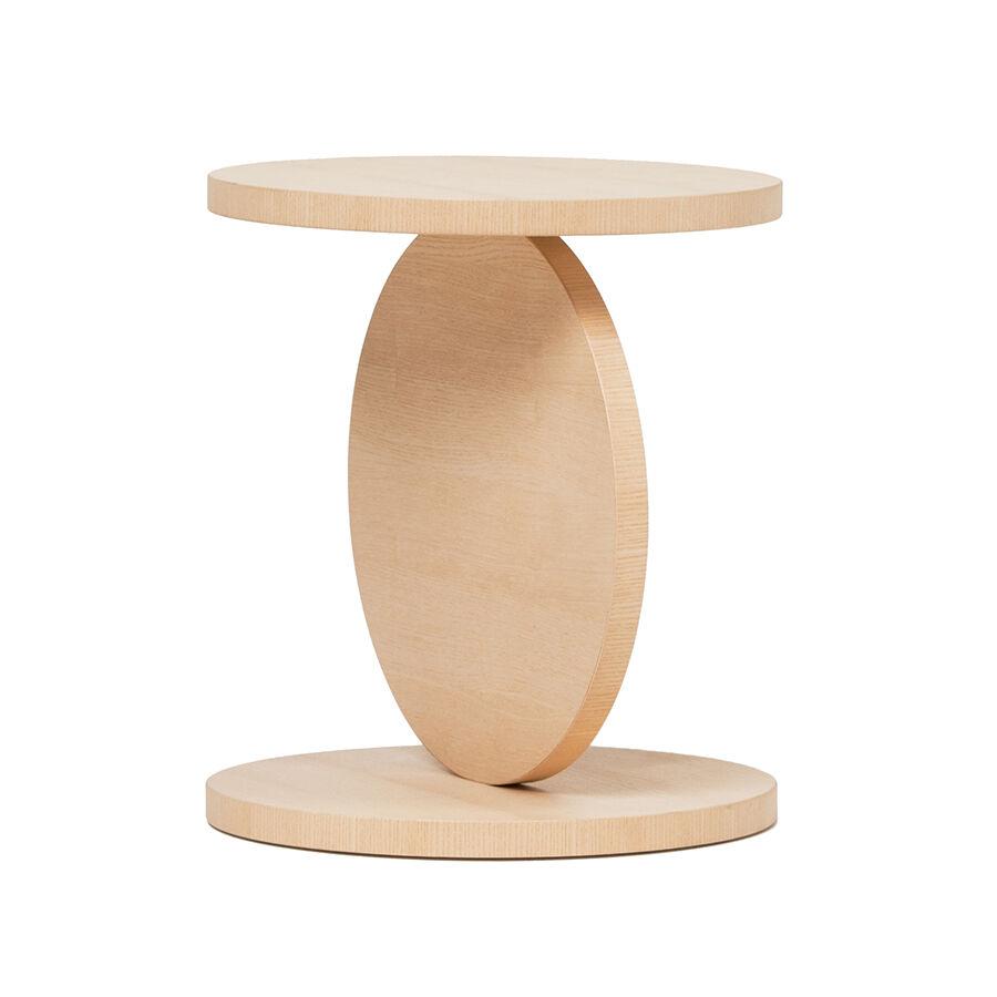 BALERI ITALIA table basse MATCH POINT (90° chêne blanchi - bois multi-couches palqué)