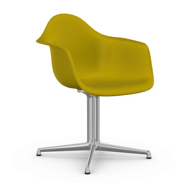 VITRA chaise fauteuil Eames Plastic Armchair DAL (Moutarde - Aluminium moulé sous pression / Polypropylène)