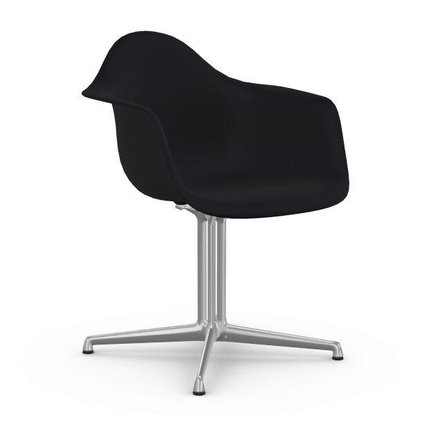 VITRA chaise fauteuil Eames Plastic Armchair DAL (Noir intense - Aluminium moulé sous pression / Polypropylène)