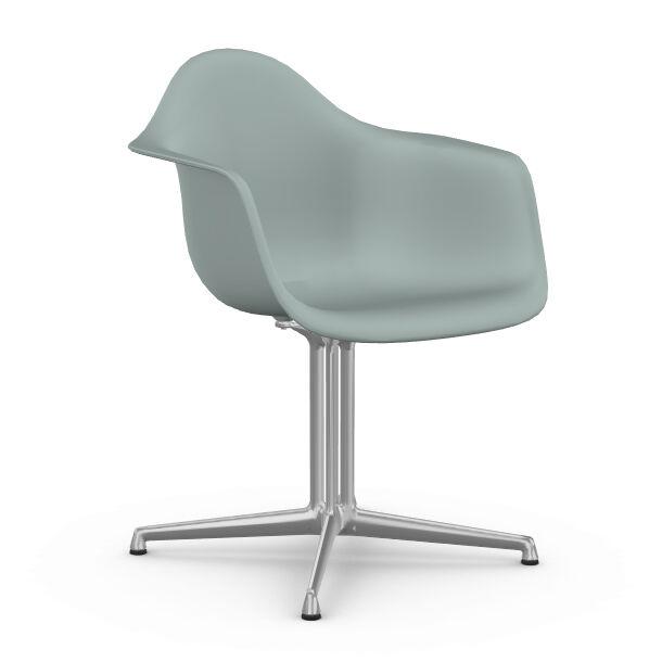 VITRA chaise fauteuil Eames Plastic Armchair DAL (Gris clair - Aluminium moulé sous pression / Polypropylène)