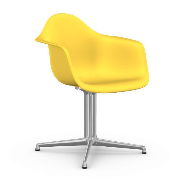 VITRA chaise fauteuil Eames Plastic Armchair DAL (Sunlight - Aluminium moulé sous pression / Polypropylène)