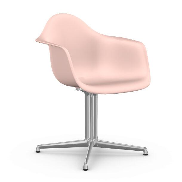 VITRA chaise fauteuil Eames Plastic Armchair DAL (Rose clair - Aluminium moulé sous pression / Polypropylène)