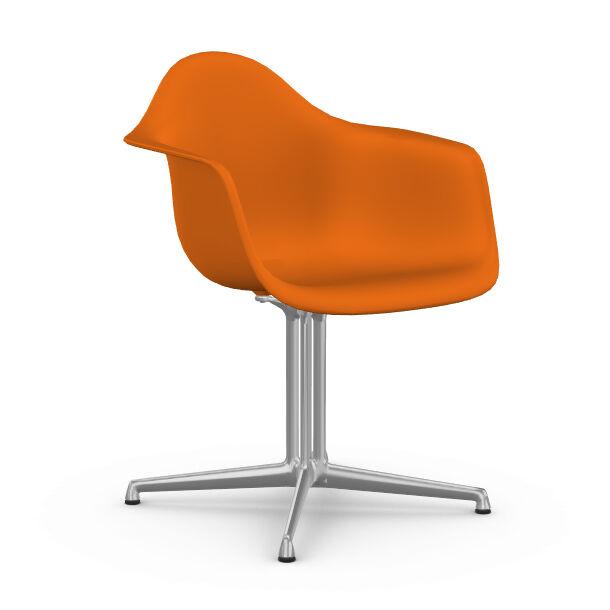 VITRA chaise fauteuil Eames Plastic Armchair DAL (Orange rouille - Aluminium moulé sous pression / Polypropylène)