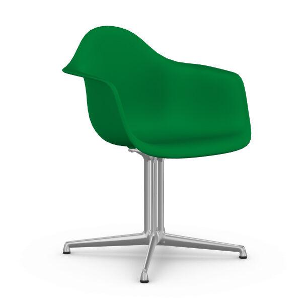 VITRA chaise fauteuil Eames Plastic Armchair DAL (Vert - Aluminium moulé sous pression / Polypropylène)