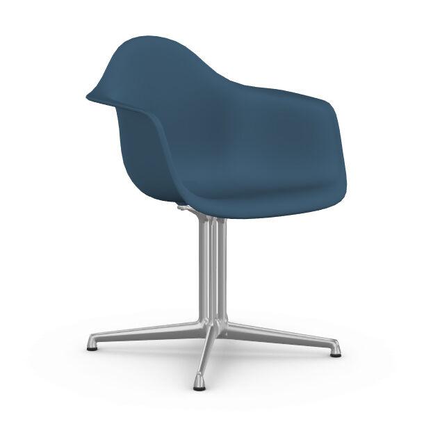 VITRA chaise fauteuil Eames Plastic Armchair DAL (Bleu Marine - Aluminium moulé sous pression / Polypropylène)