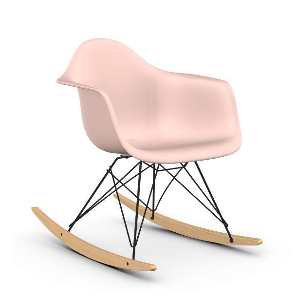 VITRA RAR fauteuil à bascule Eames Plastic Armchair base basic dark et érable jaune (Rose clair - Polypropylène expansé, fil en acier verni, [...]