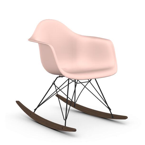 VITRA RAR fauteuil à bascule Eames Plastic Armchair base basic dark et érable foncé (Rose clair - Polypropylène expansé, fil en acier verni, [...]