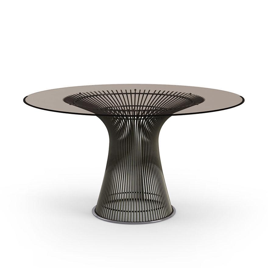 KNOLL table ronde PLATNER Ø 135 cm (Bronze / Bronze - Métal / Cristal)