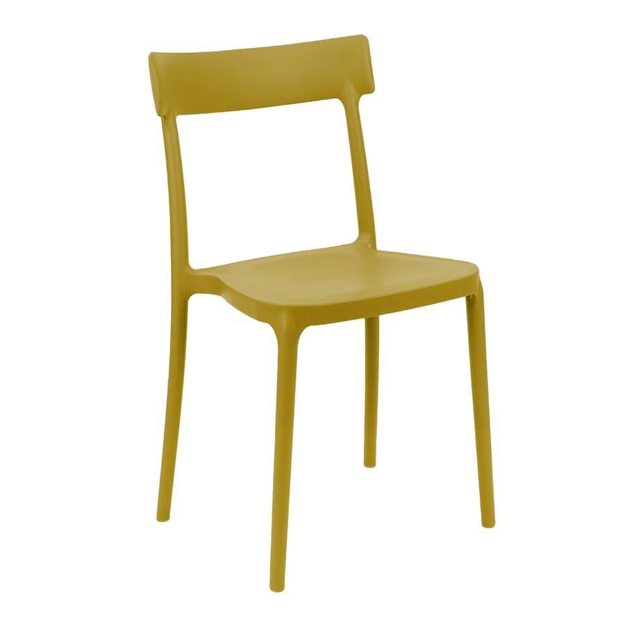 CONNUBIA set de 4 chaises ARGO (Moutarde - Polypropylène)