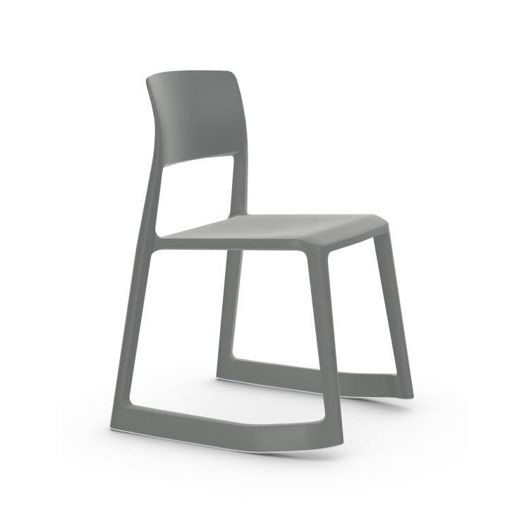 VITRA chaise TIP TON RE (Gris foncé - Polipropilene riciclato)