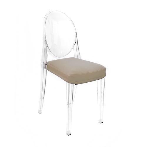MYAREADESIGN IL CUSCINO coussin pour chaise KARTELL VICTORIA GHOST (Noisette cod. 07 - Eco-cuir Greta)