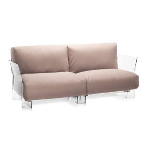 KARTELL canapé à 2 places pour extérieur POP OUTDOOR (Gris tourterelle - Polycarbonate transparent et tissu Sunbrella) - Publicité