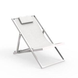 TALENTI transat bain de soleil chaise longue d'extérieur TOUCH Collection PiùTrentanove (White - Aluminium verni et tissu) - Publicité