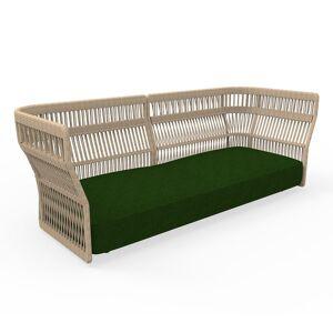 TALENTI canapé à 3 places d'extérieur CLIFF Collection Icon (Beige / Green - Tissu et corde synthétique) - Publicité