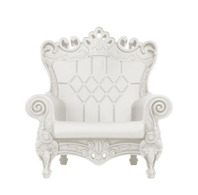SLIDE fauteuil QUEEN OF LOVE (Blanc lait - Polyéthylène)