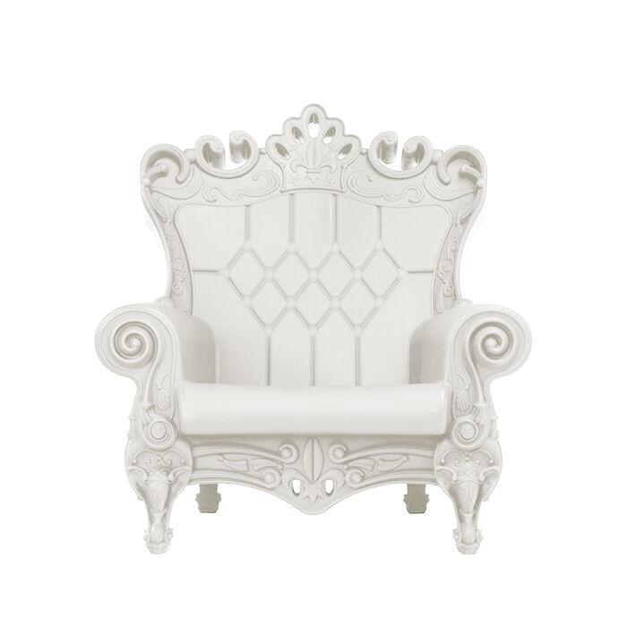 SLIDE fauteuil LITTLE QUEEN OF LOVE (Blanc lait - Polyéthylène)