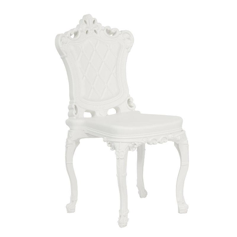 SLIDE set de 2 chaises PRINCESS OF LOVE (Blanc lait - Polyéthylène)