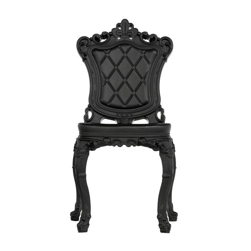 SLIDE set de 2 chaises PRINCESS OF LOVE (Noir - Polyéthylène)