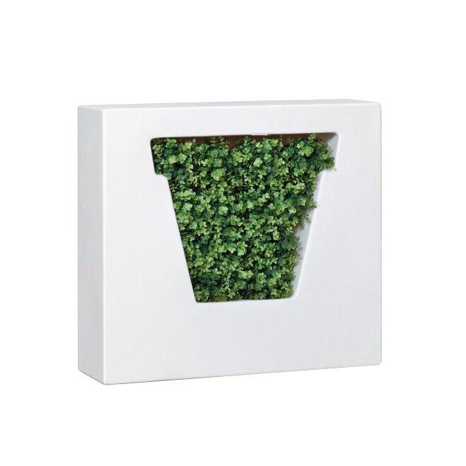 MYYOUR vase pour extérieur NON VASO (Blanc - Poleasy gaufré moulé)