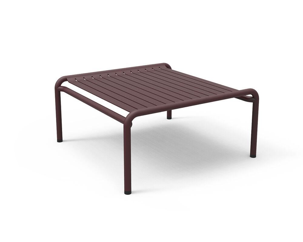 PETITE FRITURE table basse pour extérieur WEEK-END (Bordeaux - Aluminium verni par poudre epoxy)