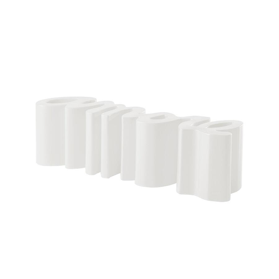 SLIDE banc AMORE BENCH (Blanc lait - Polyéthylène)