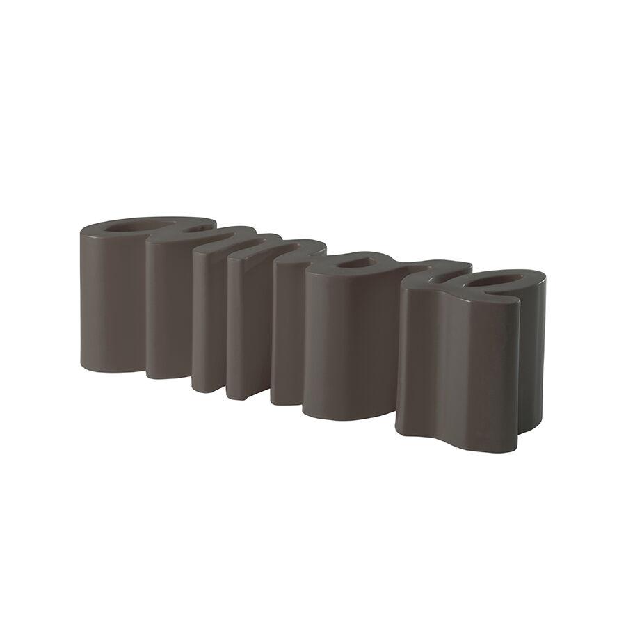 SLIDE banc AMORE BENCH (Chocolat / Gris - Polyéthylène)