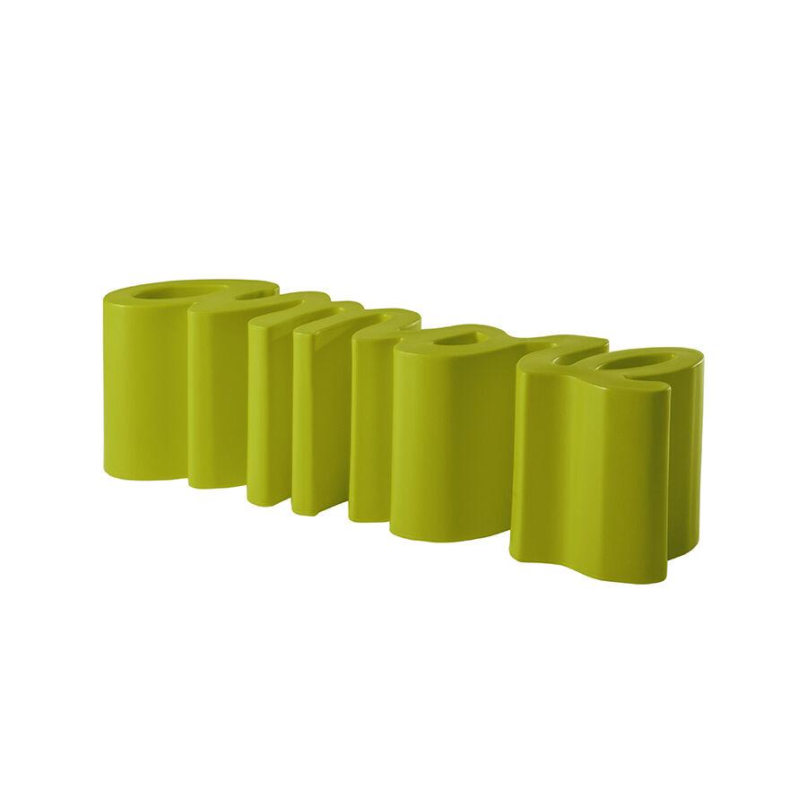 SLIDE banc AMORE BENCH (Citron vert - Polyéthylène)