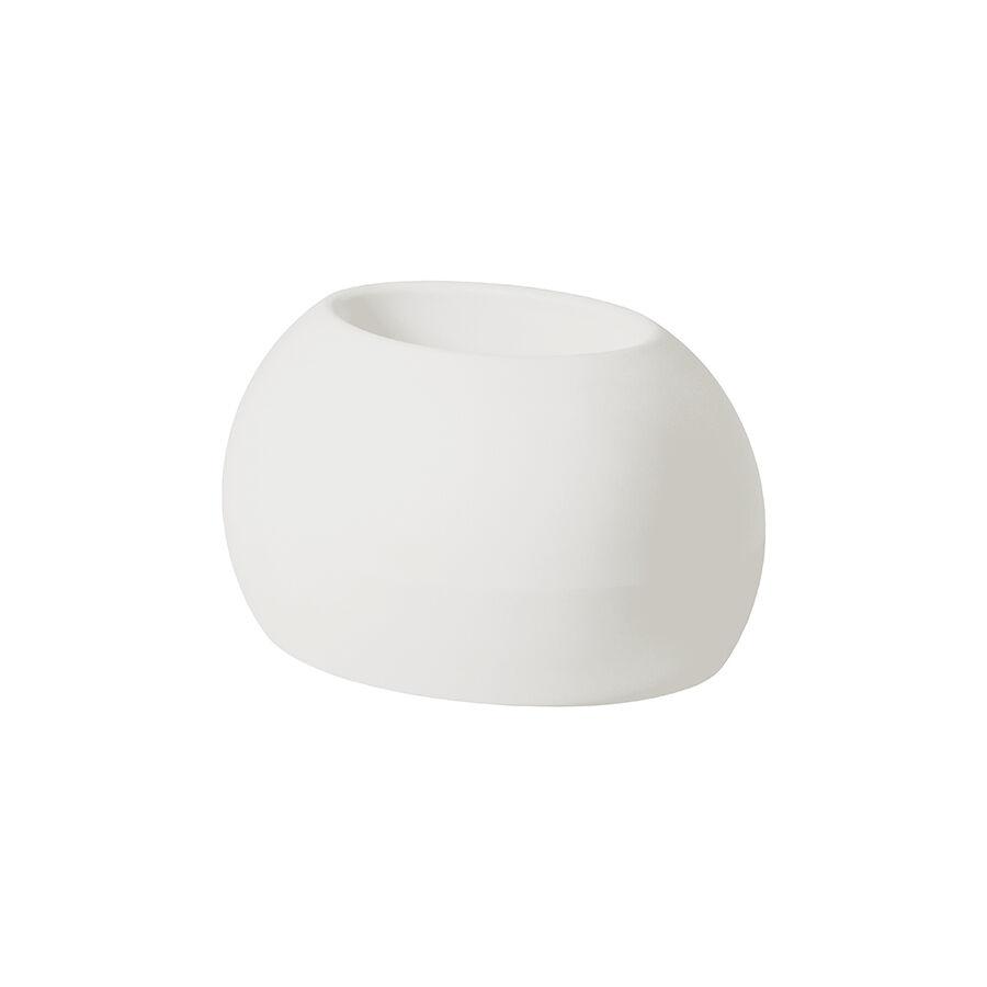SLIDE vase BLOS POT (Blanc lait - Polyéthylène)