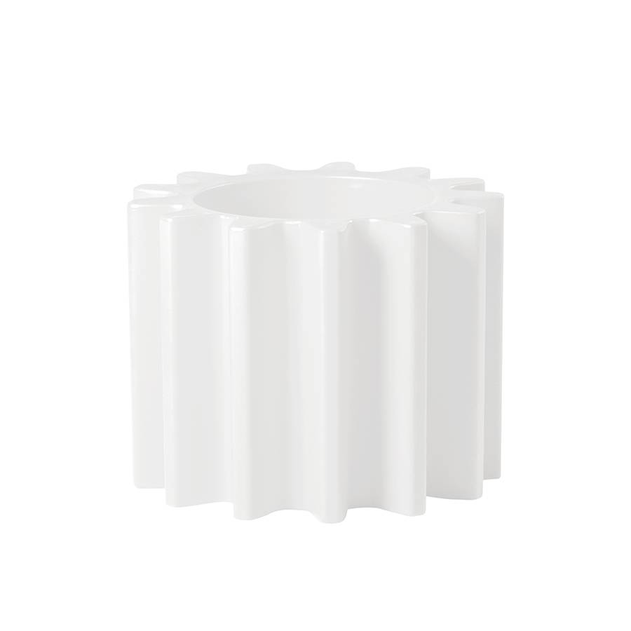 SLIDE vase GEAR POT (Blanc lait - Polyéthylène)