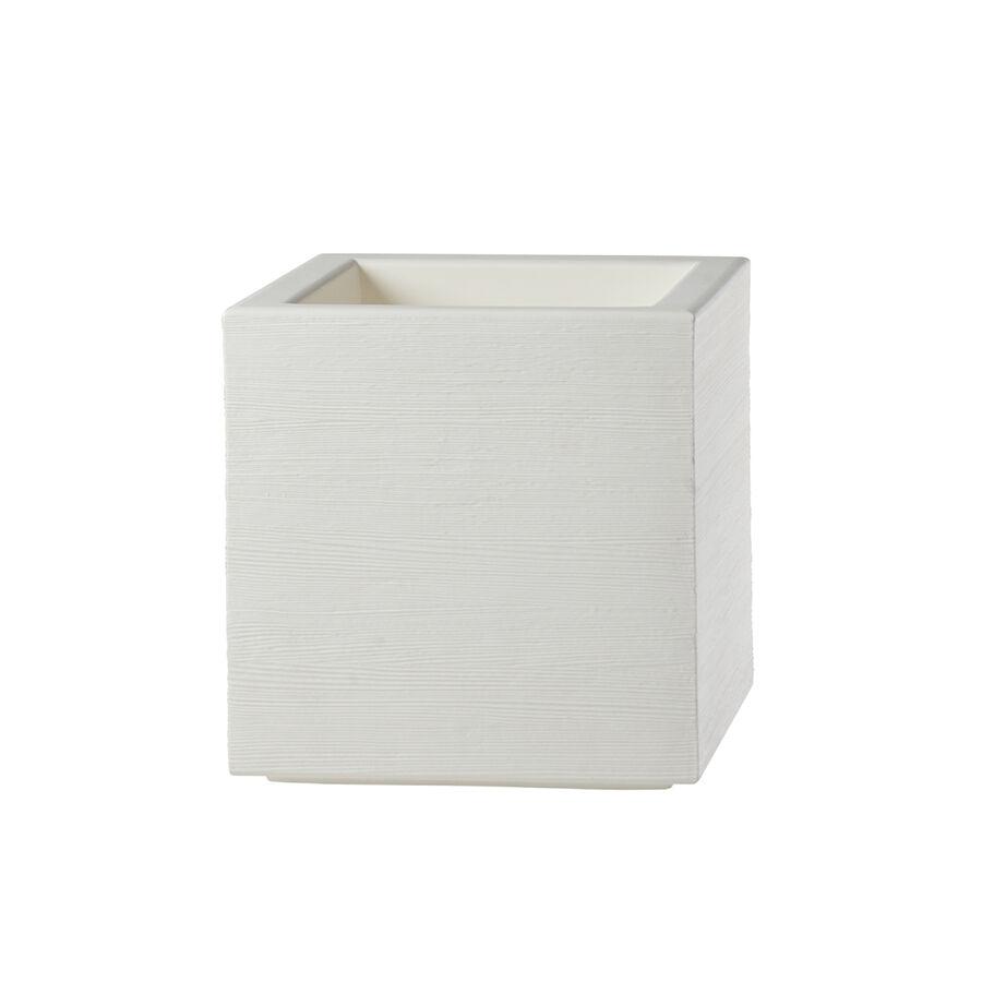 SLIDE vase QUADRA 45 cm (Blanc lait - Polyéthylène)