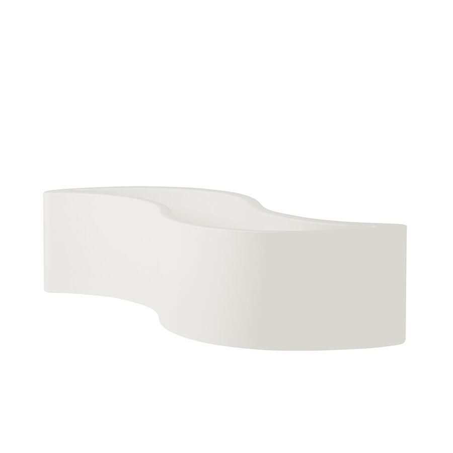 SLIDE vase WAVE POT (Blanc lait - Polyéthylène)
