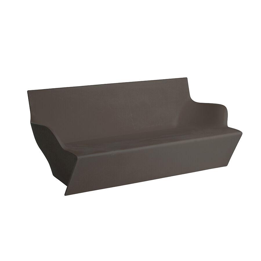SLIDE canapé pour extérieur KAMI YON (Chocolat / Gris - Polyéthylène)
