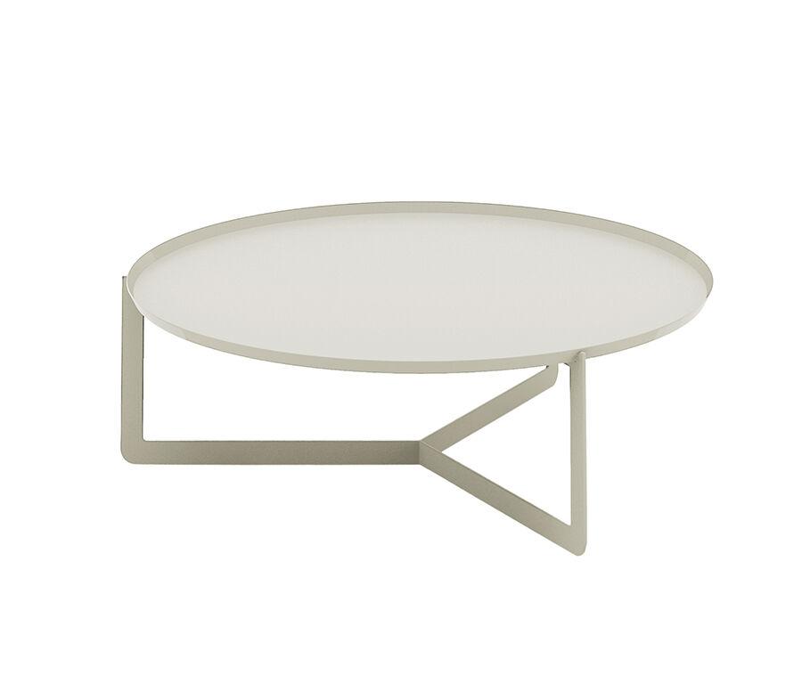 MEME DESIGN table basse pour extérieur ROUND 3 OUTDOOR (Chanvre - Métal)