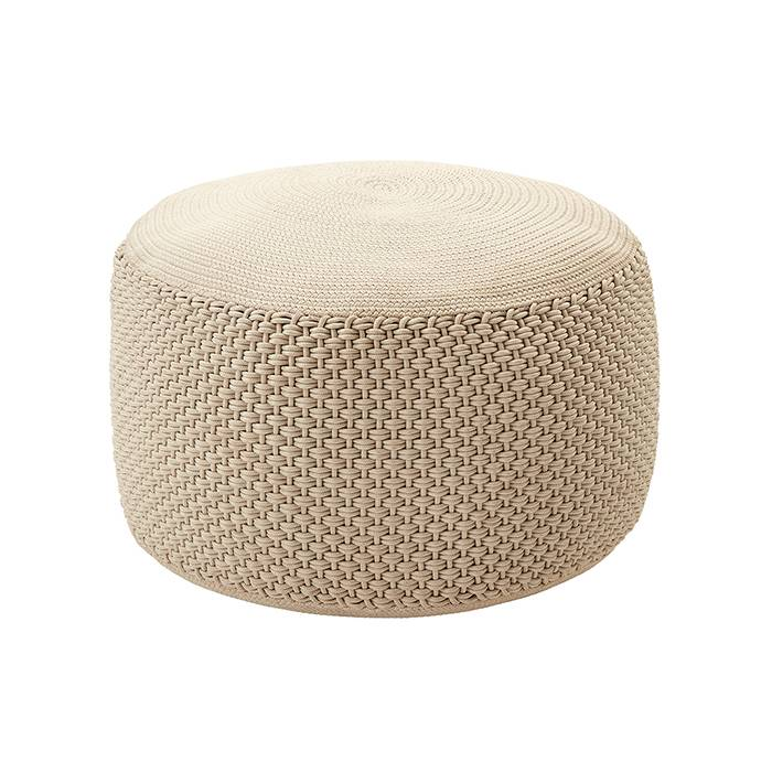 MEME DESIGN pouf pour extérieur BERENICE BIG (Chanvre - Tissu)